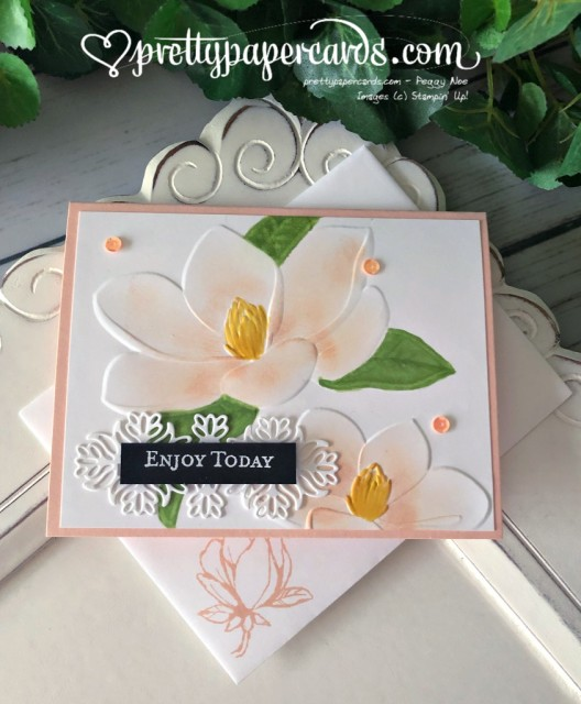 Stampin' Up! Magnolia Emboss - prettypapercards -stampinup