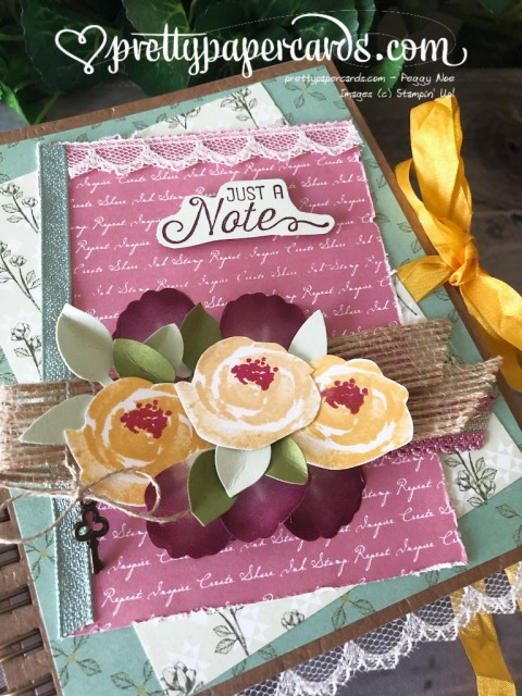 Stampin' Up! Pressed Petals Journal - Peggy Noe - stampinup