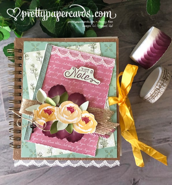 Stampin' Up! Pressed Petals Journal - prettypapercards - stampinup