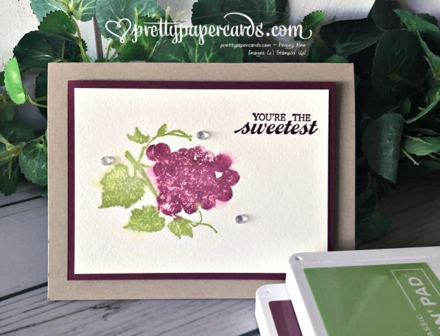 Stampin' Up! Slice of Happiness Grapes - Peggy Noe - stampinup