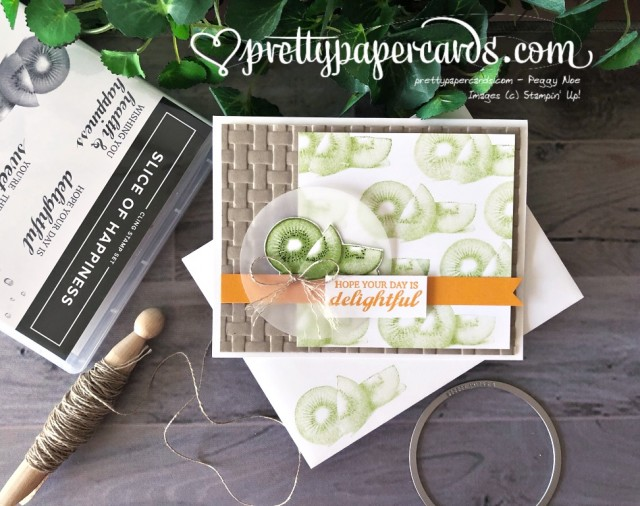 Stampin' Up! Slice of Happiness Kiwi - Peggy Noe - stampinup