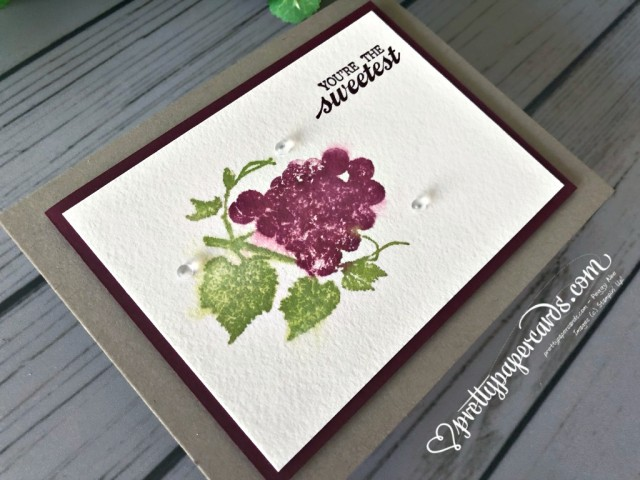 Stampin' Up! Slice of Happiness card - prettypapercards - stampinup