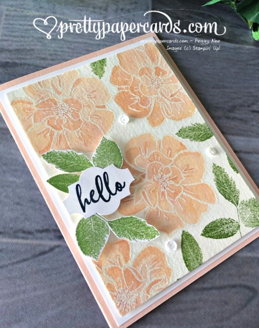 Stampin' Up! To a Wild Rose - Peggy Noe - stampinup