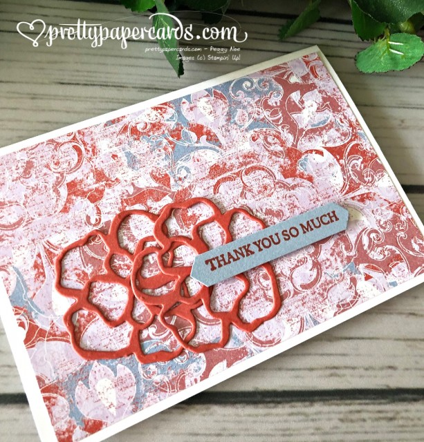 Stampin' Up! Woven Threads Notecard - Peggy Noe - stampinup