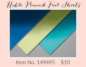Noble Peacock Foil Sheets 149495G