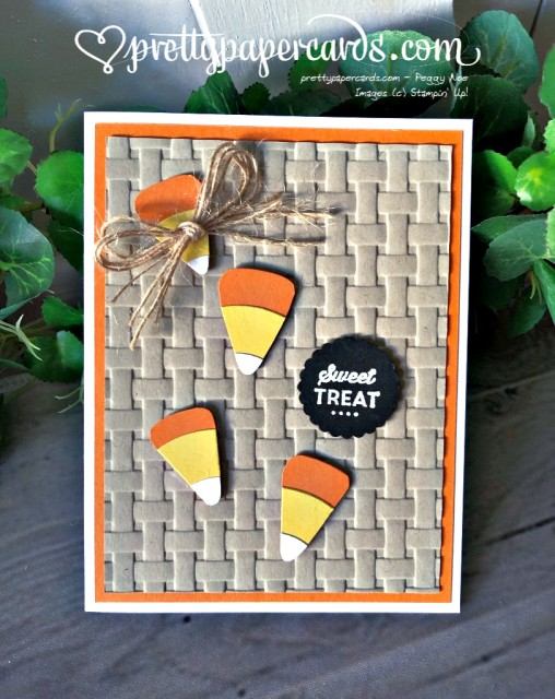 Stampin' Up! Candy Corn Card - prettypapercards - stampinup