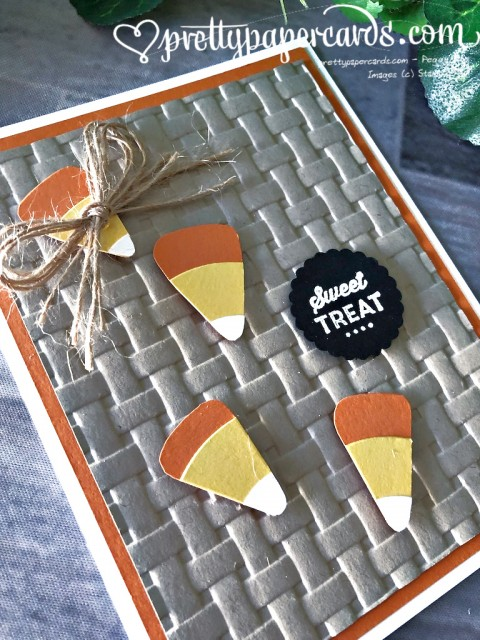 Stampin' Up! Fall Candy Card - Peggy Noe - stampinup