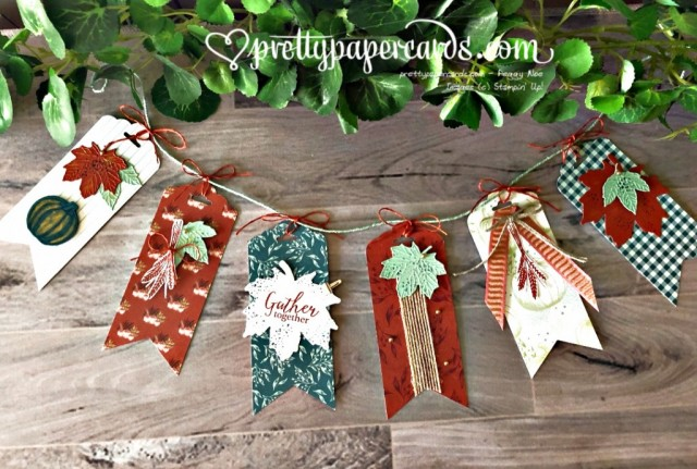 Stampin' Up! Gather Together Banner - Pretty Paper Cards - stampinup