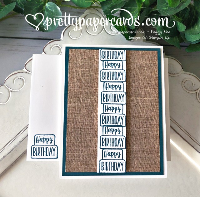 Stampin' Up! Piece of Cake Column - Peggy Noe - stampinup