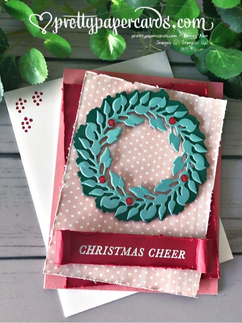 Stampin' Up! Tidings All Around Wreath - Peggy Noe - stampinup