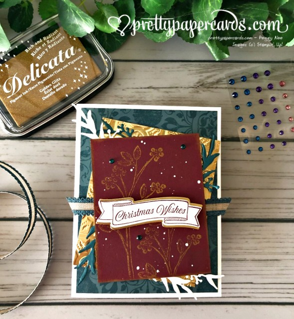 Stampin' Up! Toile Christmas Card by Pretty Paper Cards - stammpinup