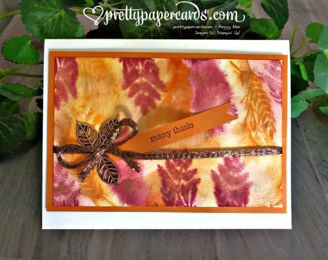 Stampin' Up! Watercolored Leaves - Peggy Noe