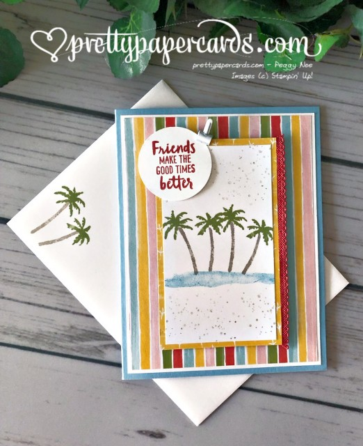 Stampin' Up! Waterfront Card - Peggy Noe - stampinup