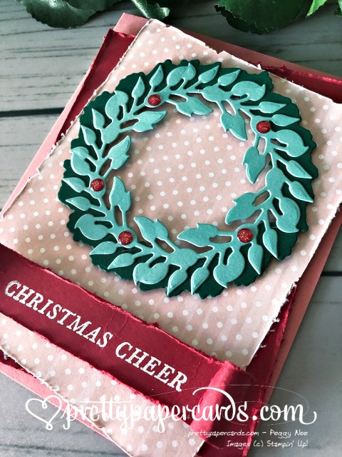 Stampin' Up! Wreath Tidings All Around - Peggy Noe - stampinup