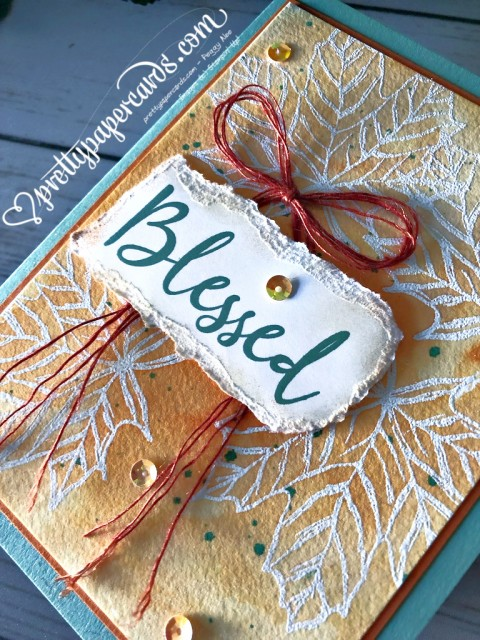 Stampin' Up! Blessed Card - Peggy Noe - stampinup