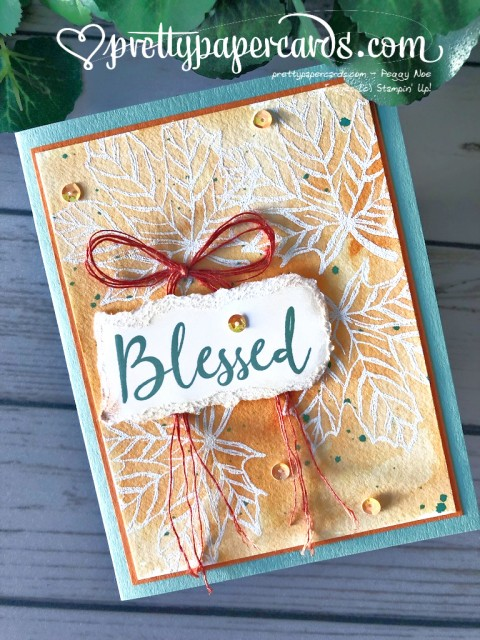 Stampin' Up! Blessed Card - Pretty Paper Cards - stampinup