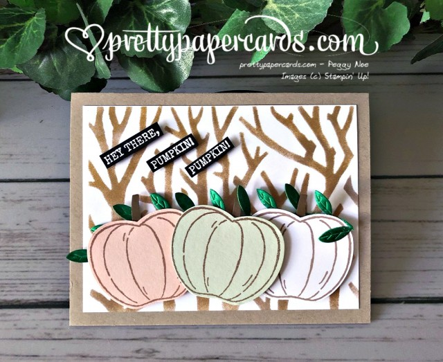 Stampin' Up! Harvest Hellos Card - Pretty Paper Cards - stampinup