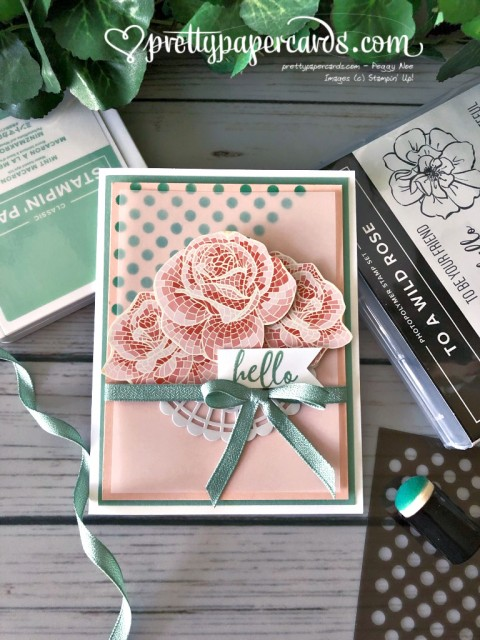 Stampin' Up! Hello Mosaic Mood Card - Peggy Noe - stampinup