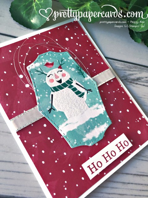 Stampin' Up! Let it Snow Christmas Card - Pretty Paper Cards - stampinup