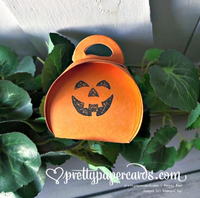 Stampin' Up! Mini Curvy Keepsake Pumpkin - Peggy Noe - stampinup