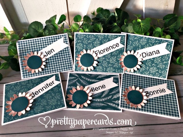 Stampin' Up! Pretty Peacock Sunflowers - Peggy Noe - stampinup