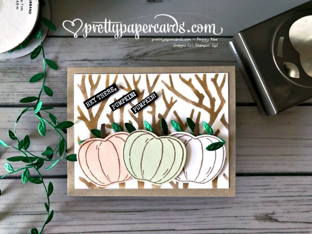Stampin' Up! Pumpkin Card - Pretty Paper Cards - stampinup