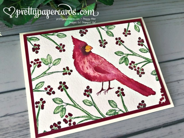 Stampin' Up! Watercolored Cardinal - Peggy Noe - stampinup