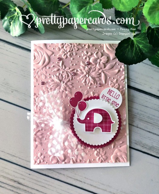 Stampin' Up! Baby Card - Pretty Paper Cards - stampinup