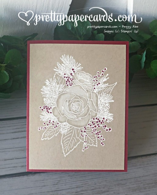 Stampin' Up! Christmastime Rose - Peggy Noe - stampinup