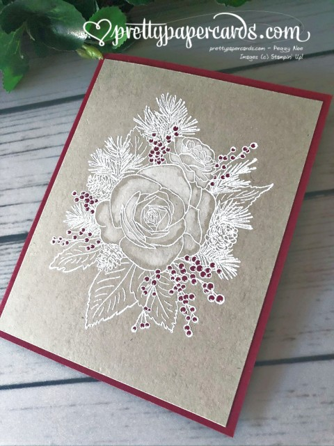 Stampin' Up! Christmastime Rose - Pretty Paper Cards - stampinup