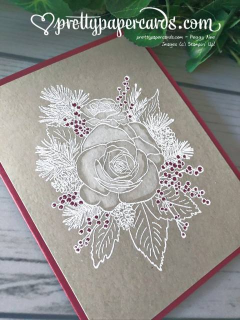Stampin' Up! Christmastime Rose card - Peggy Noe - stampinup