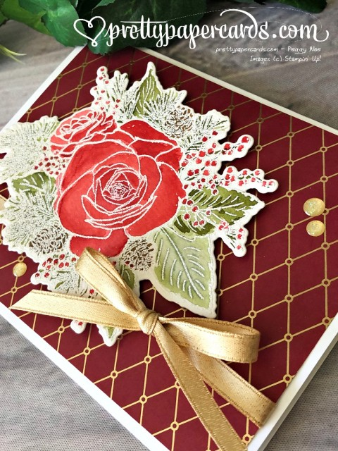 Stampin' Up! Christmastime is Here Card - Pretty Paper Cards - stampinup