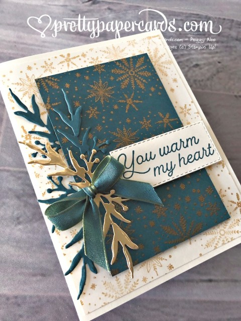 Stampin' Up! Frosted Foliage Card - Peggy Noe - stampinup