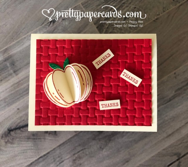 Stampin' Up! Harvest Hellos Apple - Peggy Noe - stampinup