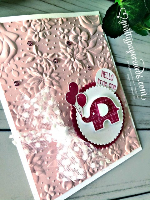 Stampin' Up! Little Elephant Baby Card - Pretty Paper Cards - stampinup