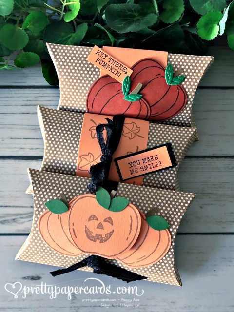 Stampin' Up! Pumpkin Pillowbox - Peggy Noe - stampinup