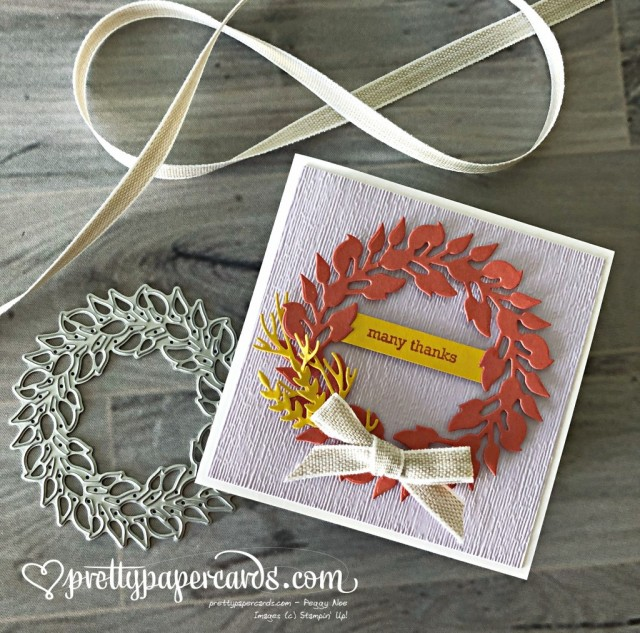 Stampin' Up! Tidings All Around Thanks - Peggy Noe - stampinup