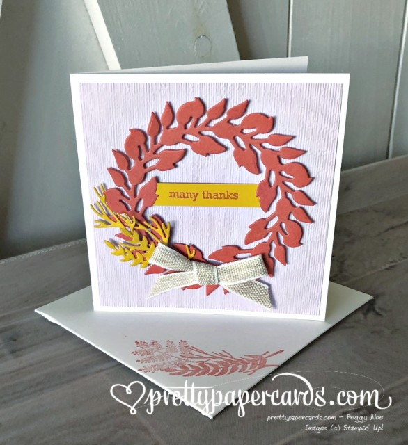 Stampin' Up! Tidings All Around Thanks - Pretty Paper Cards - stampinup
