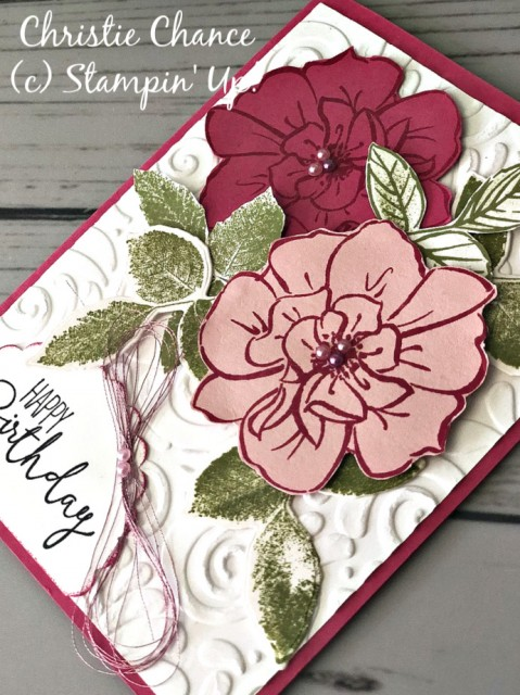 Stampin' Up! To a Wild Rose Birthday Card - Pretty Paper Cards - stampinup (new)