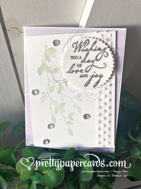 Stampin' Up! Woven Threads Wedding Card - Peggy Noe - stampinup