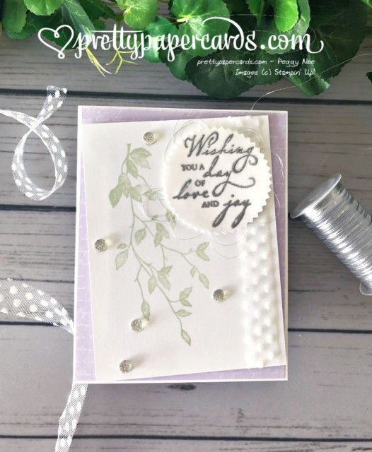 Stampin' Up! Woven Threads Wedding Card - Pretty Paper Cards - stampinup