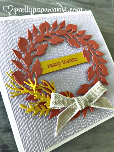 Stampin' Up! Wreath Thank You Card - Peggy Noe - stampinup