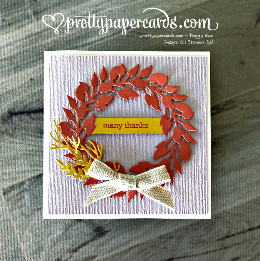 Fall Wreath Thank You Card!