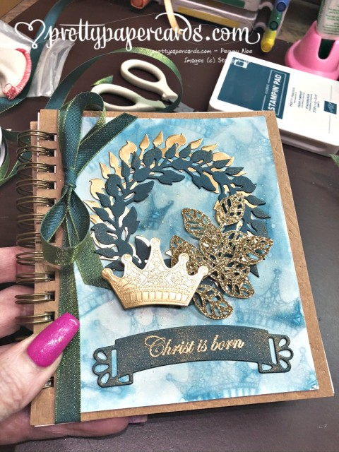 Stampin' Up! Advent Journal Wreath - Peggy Noe - stampinup