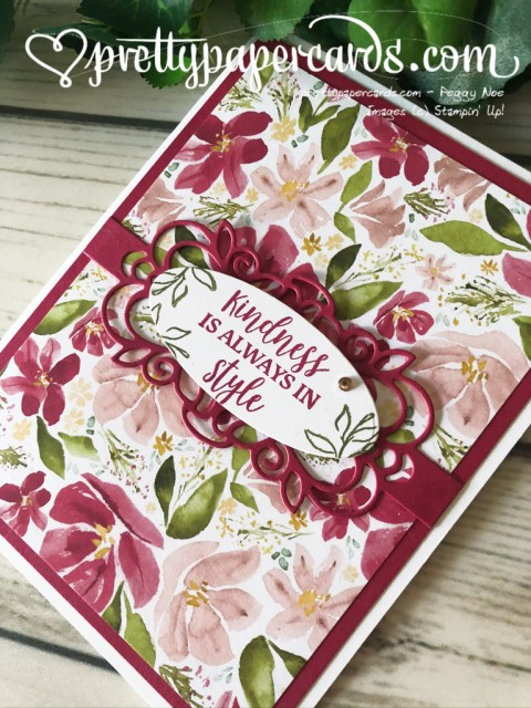 Stampin' Up! Best Dressed Card - Peggy Noe - stampinup