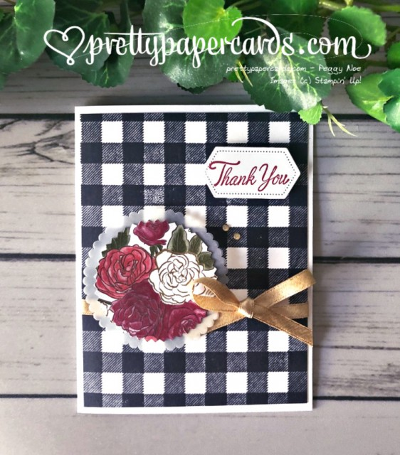 Stampin' Up! Christmastime Thank You Card - Peggy Noe - stampinup