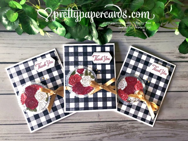 Stampin' Up! Christmastime Thank You Card - Pretty Paper Cards - stampinup