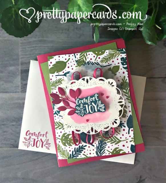 Stampin' Up! Comfort & Joy Card - Pretty Paper Cards - stampinup