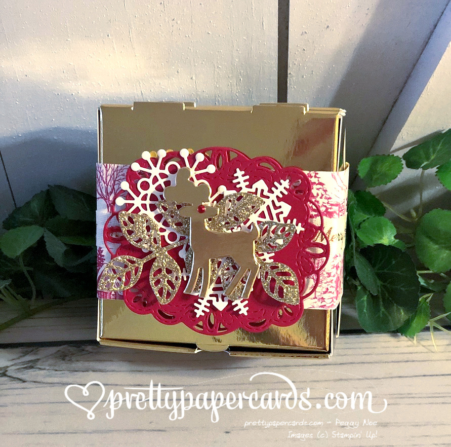 Gold Mini Pizza Box ~ Gift Wrapping for the Holidays!