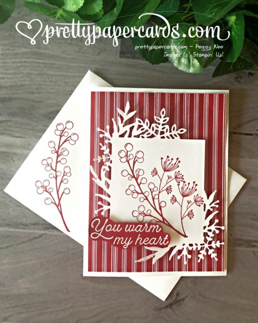 Stampin' Up! Frosted Foliage Card - Pretty Paper Cards - stampinup